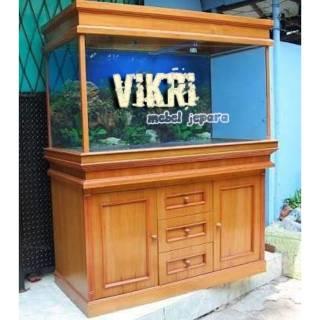 Meja Aquarium Minimalis Jati 120 Cm Mebel Jepara Furniture Shopee Indonesia