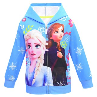 Frozen Elsa /& Anna Princess Girls Tops Summer T-shirt Hoodie girls