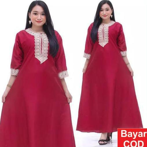Promo Dress Arab  Panjang lengan pendek Daster Muslimah Busui KCB