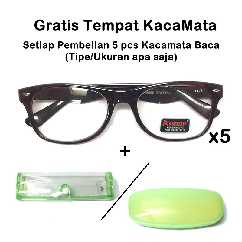 Kacamata Baca Plus - Gratis Tempat Kacamata Gaya  3907cc279d