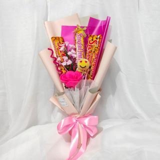 Buket Bunga Flanel Dan Coklat Hadiah Valentine Anniversary Mother S Day Hari Guru Kado Ulang Tahun Shopee Indonesia