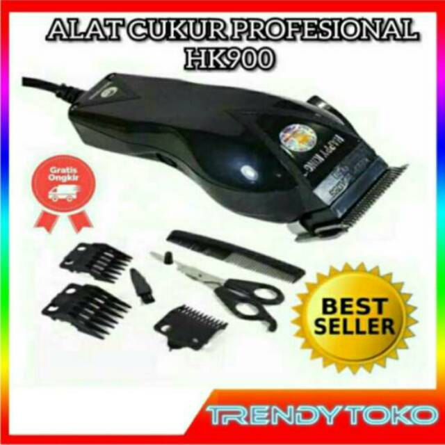 CUKUR RAMBUT HK 900/ALAT CUKUR/ALAT CUKUR RAMBUT ELEKTRIK/CUKUR RAMBUT ELEKTRIK/ALAT CUKUR RAMBUT/