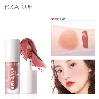Official Distributor Focallure Matte Liquid Blushes FA89 Hangover Red Wine Blusher Blush On Single thumbnail