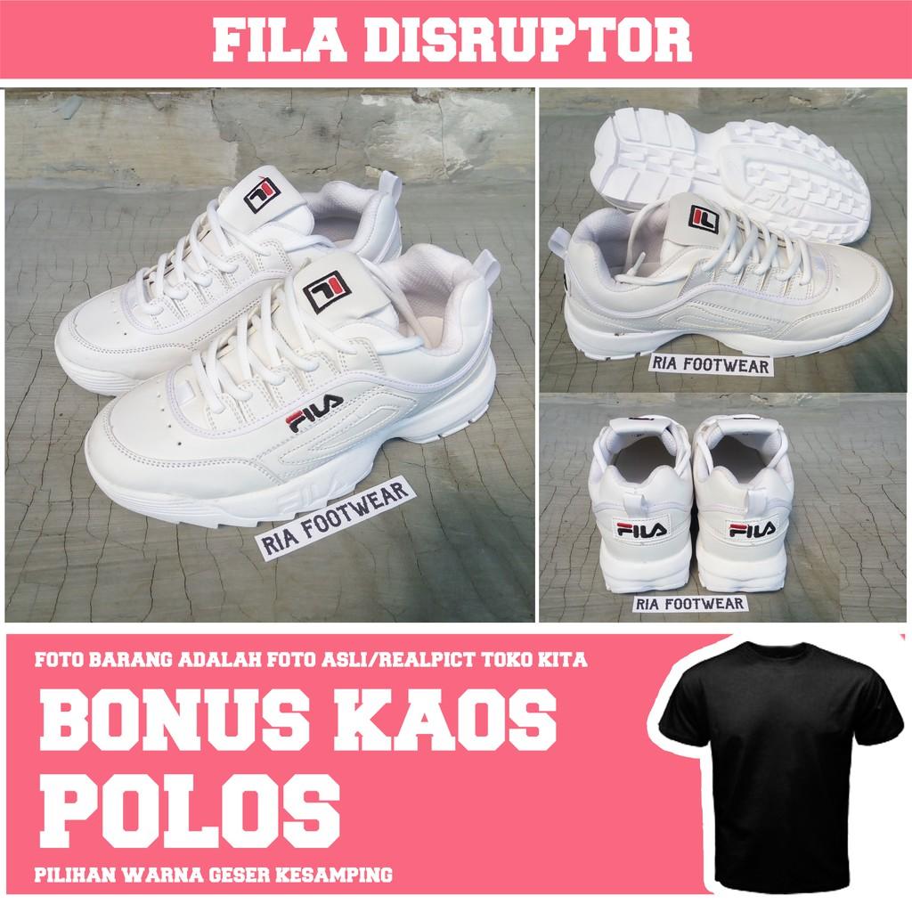 Sepatu Fila White Ladies Sneakers Fashion Cewek Cewe Sport Putih Amazara Evelyn Hazelnut Cokelat Muda 39 Women Shopee Indonesia