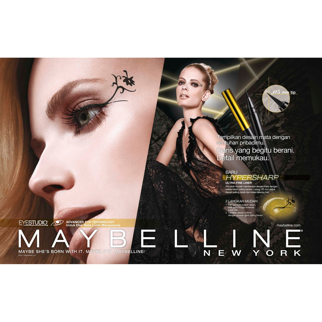 Maybelline Hypersharp Wing Eyeliner Hitam Original Genuine Asli Power Black Liner Shopee Indonesia