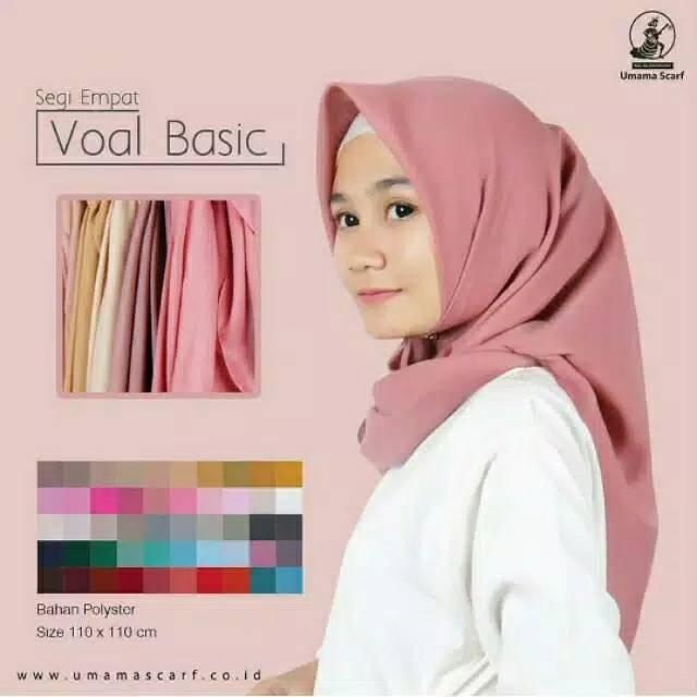 Hijab Bahan Voal Polos 22