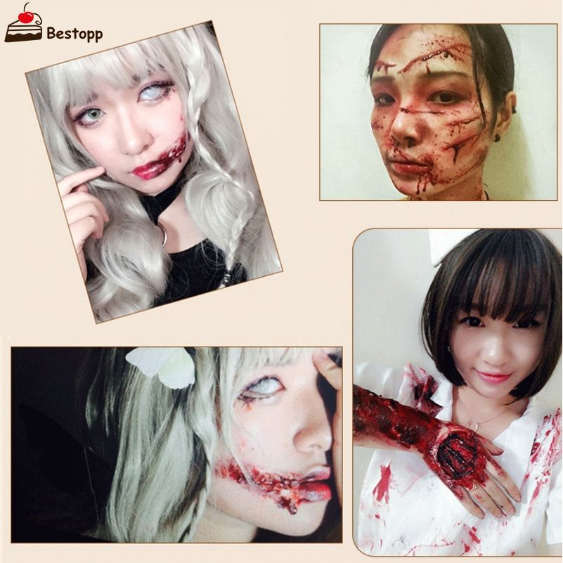 ✨COD✨ Pad Nose Halloween Scars Cosplay Flesh Color Cover Eyebrows Mud Skin Wax Shaping ✨BEST✨