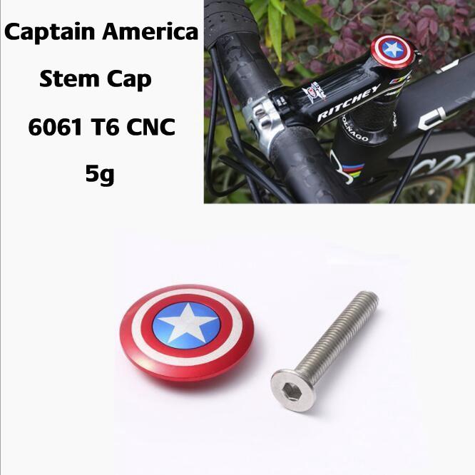 "Bike Headset Expander Stem Top Cap for Carbon 28.6mm 1 1//8/"" Steerer Captain Logo"