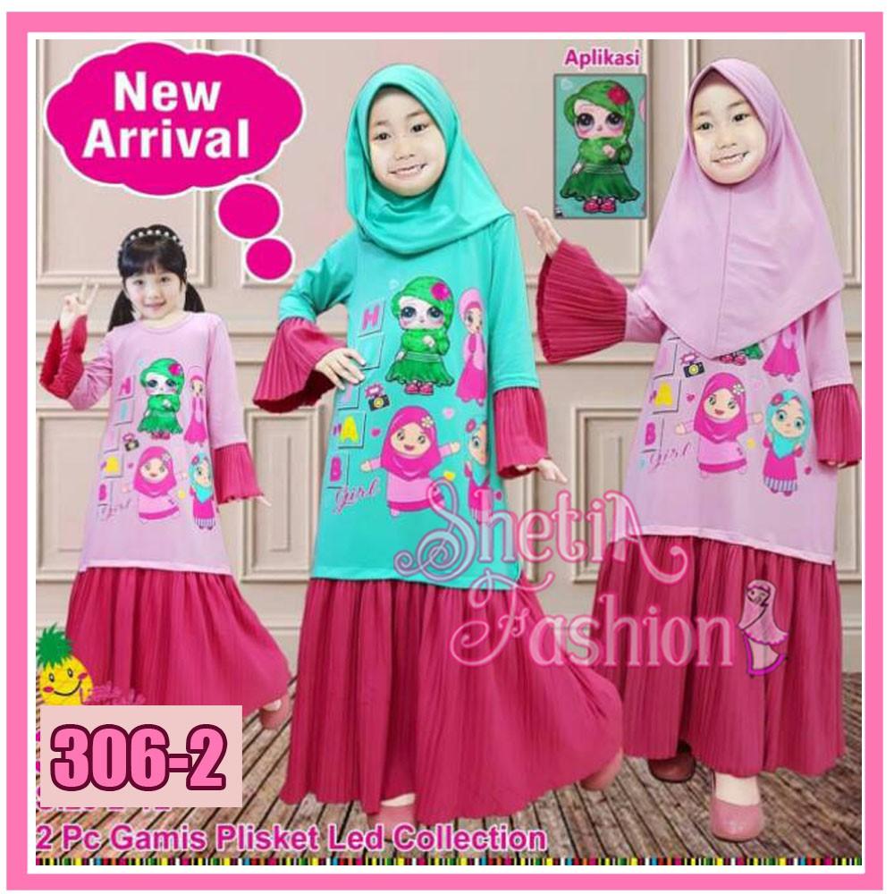 Little pineapple PLISKET baju anak hijab muslim karakter cikarang bekasi