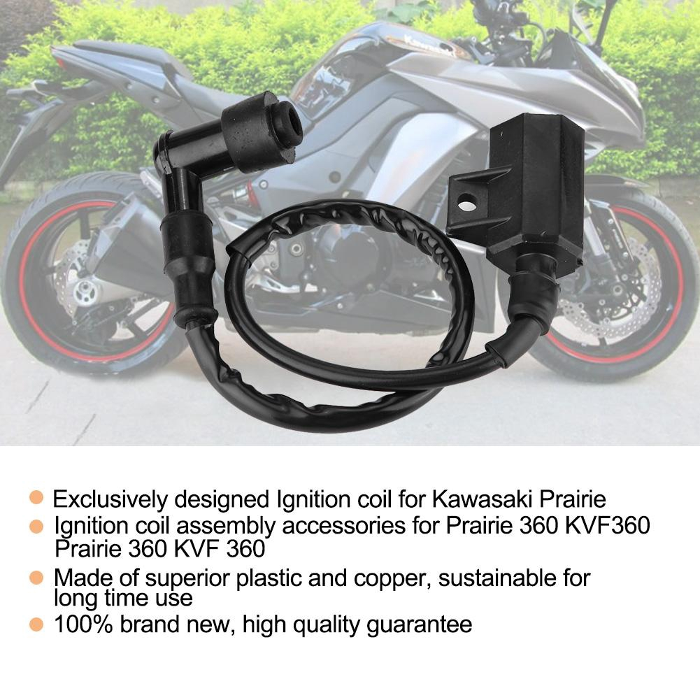 IGNITION COIL FOR KAWASAKI PRAIRIE 360 KVF360 2003 2004 2005 2006 2007 2008 2009
