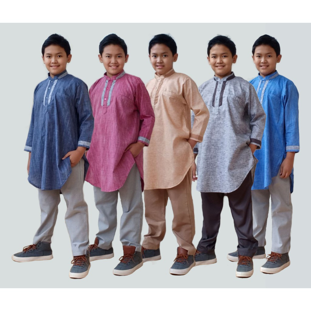Kurta Anak Linen Exclusive Series by Qoulan Sadida