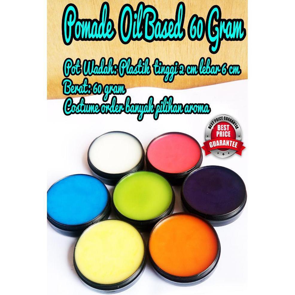 Pomade Oil Based 60 Gram Berat Non Label U002f Polosan Shopee Oilbased Medium Hold 55gr Indonesia