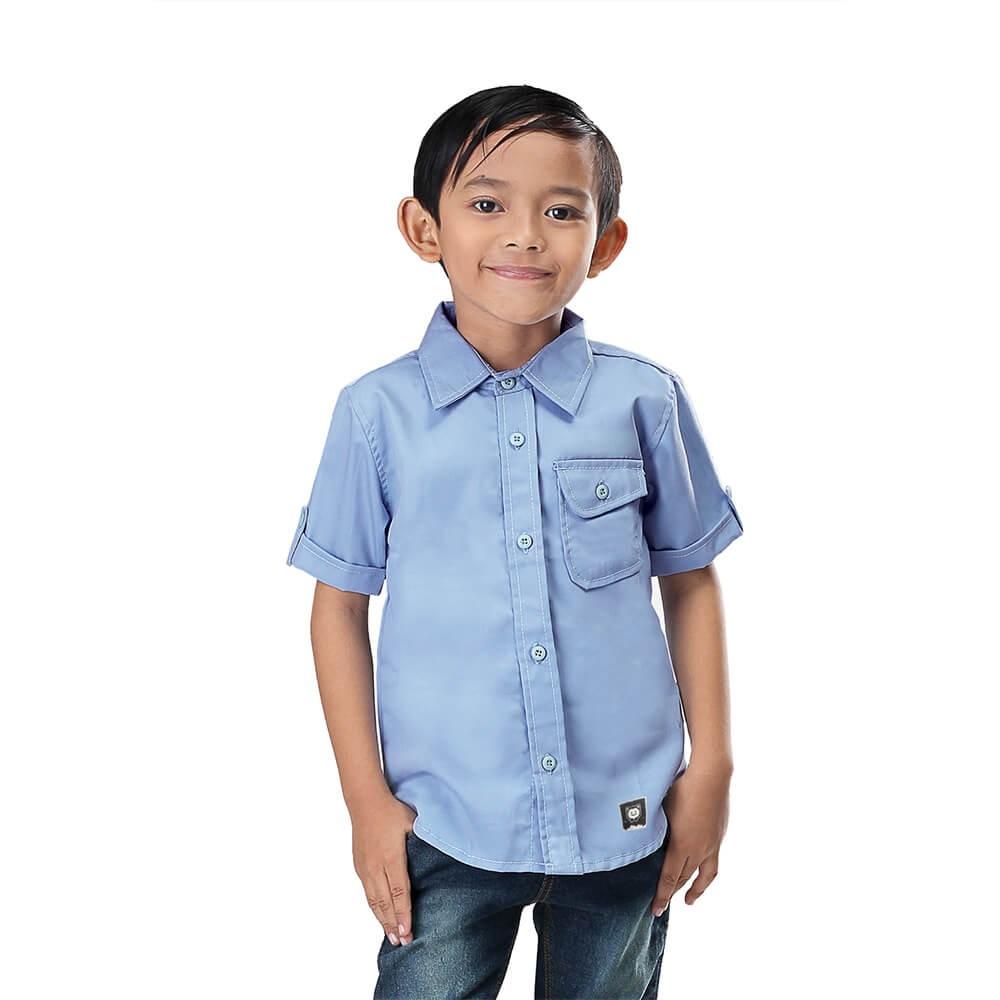 Lengan panjang pemuda pencetakan Slim Korea Fashion Style kemeja pria baju . Source .