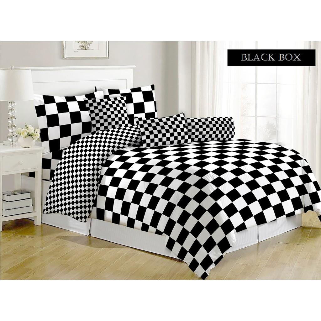 Bedcover Fata Motif Houndstood King Size Uk 180x200 Queen Sarung Kasur Busa 160 X 200 20 Oval 160x200 Tinggi 20cm Shopee Indonesia