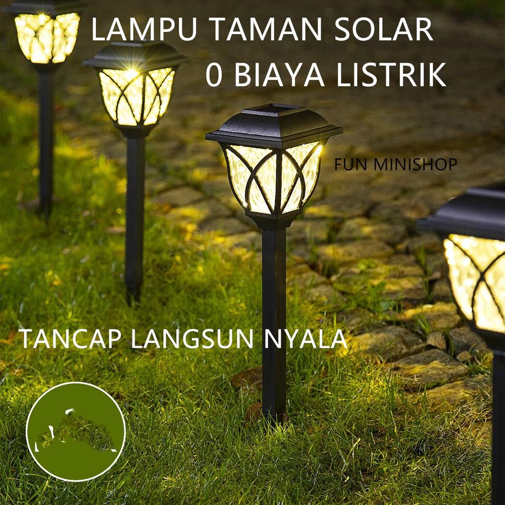 Lampu Taman Solar Tenaga Surya Lampu Taman Tancap Garden Lamp W2 Shopee Indonesia