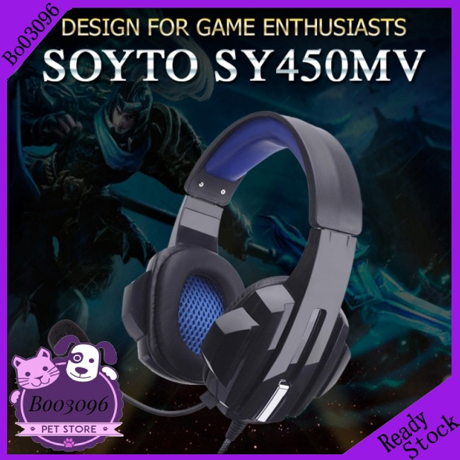 Gaming Headset Stereo Surround Headphone 3.5mm Wired Mic For PS4 PC Xbox one SPD