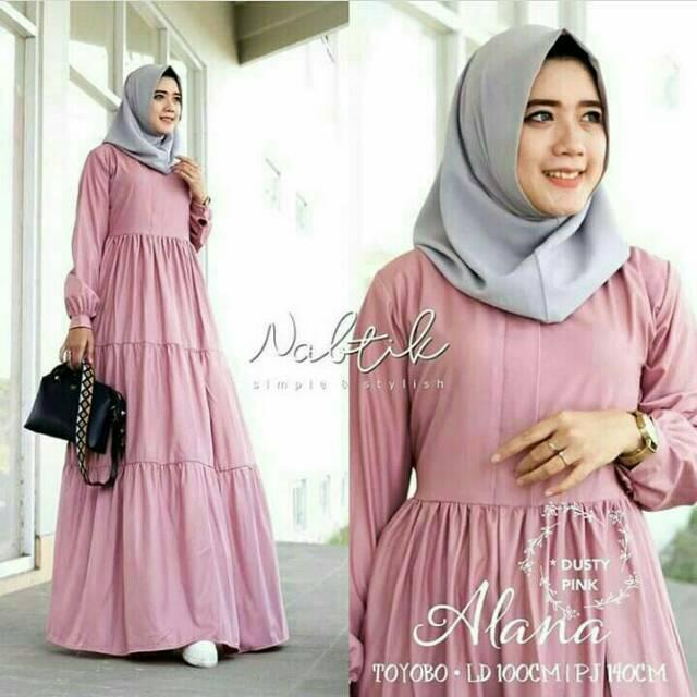 Termurah gamis syari ALANA DRESS BALETOLY gamis bandung gamis muslim baju set hijabsyari grosir baju   Shopee Indonesia