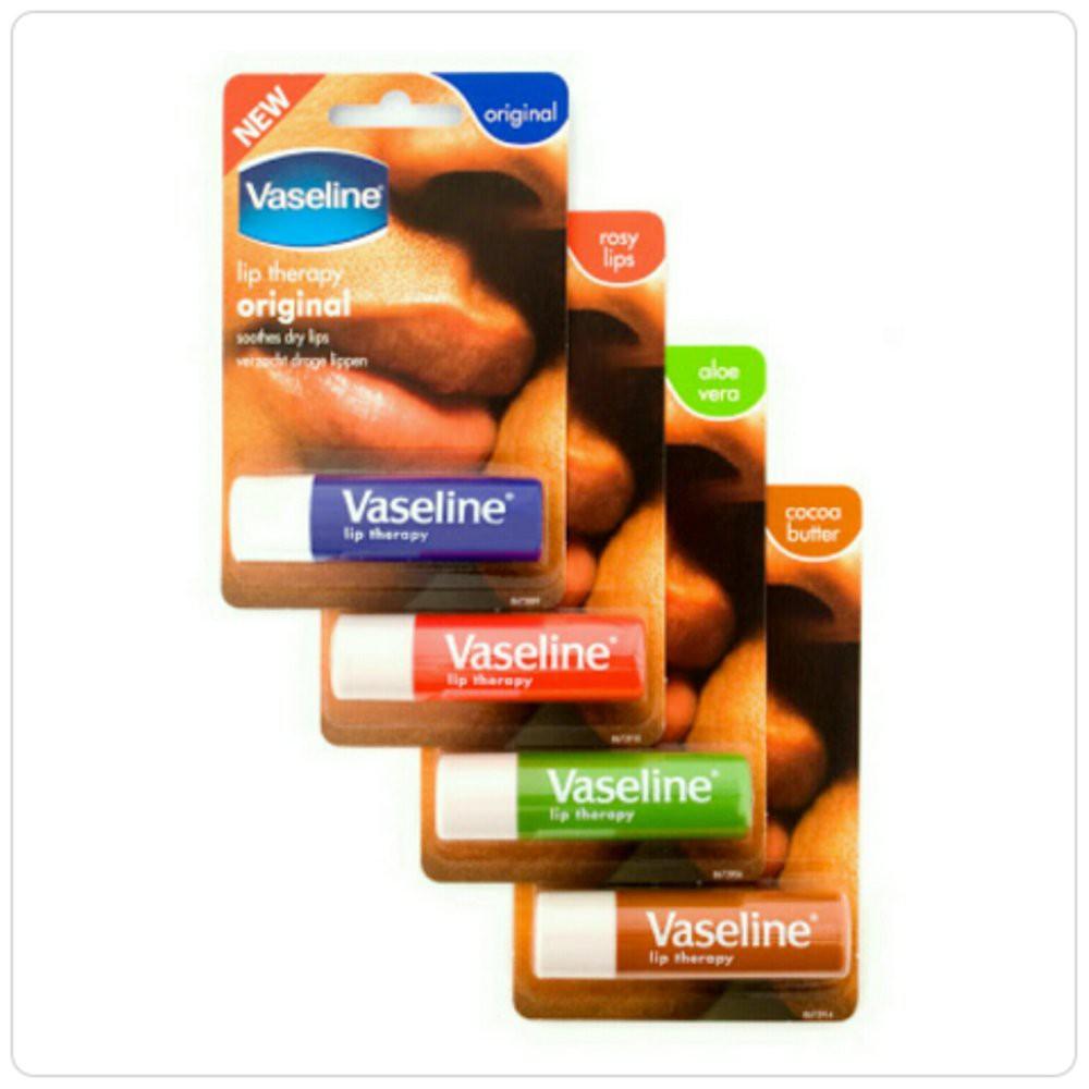 Vaseline Lips Therapy Mini Pelembab Pemerah Awas Obat Palsu  Grosir Cream Gel Bibir Puting Pink Soft Pria Wanita Asli Original Shopee Indonesia