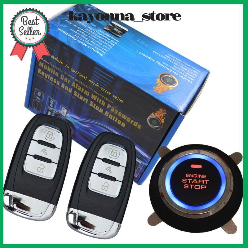 Car passive keyless entry remote engine start keyless button system lock unlock