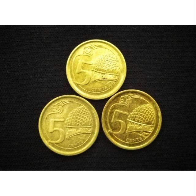 Koin asing 5 cent Singapura
