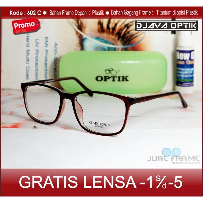 Frame Kacamata Pria Wanita + Lensa Minus Baca Anti Radiasi Komputer Frame  Fashion Murah Trendy  51595e5dcc