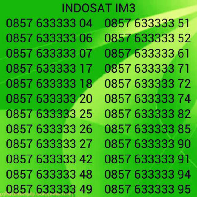 0816 3377 xx & 0816 3399 xx - Nomor Cantik Indosat IM3 Ooredoo 10 digit 4G