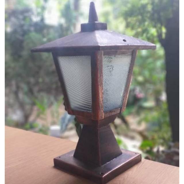 Lampu Taman Lampu Pillar Lampu Pagar Lampu Hias Rumah Desain Minimalis Lampu Outdoor Tipe Pl10 Shopee Indonesia