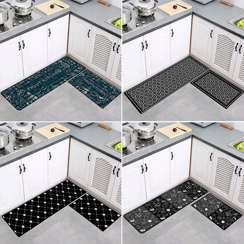 2pcs Set Kitchen Floor Mat Absorbs