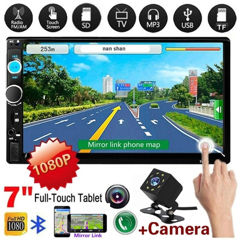 7 inch HD 2Din Touch Screen Car Stereo MP5 Player Radio Android AUX TF Camera
