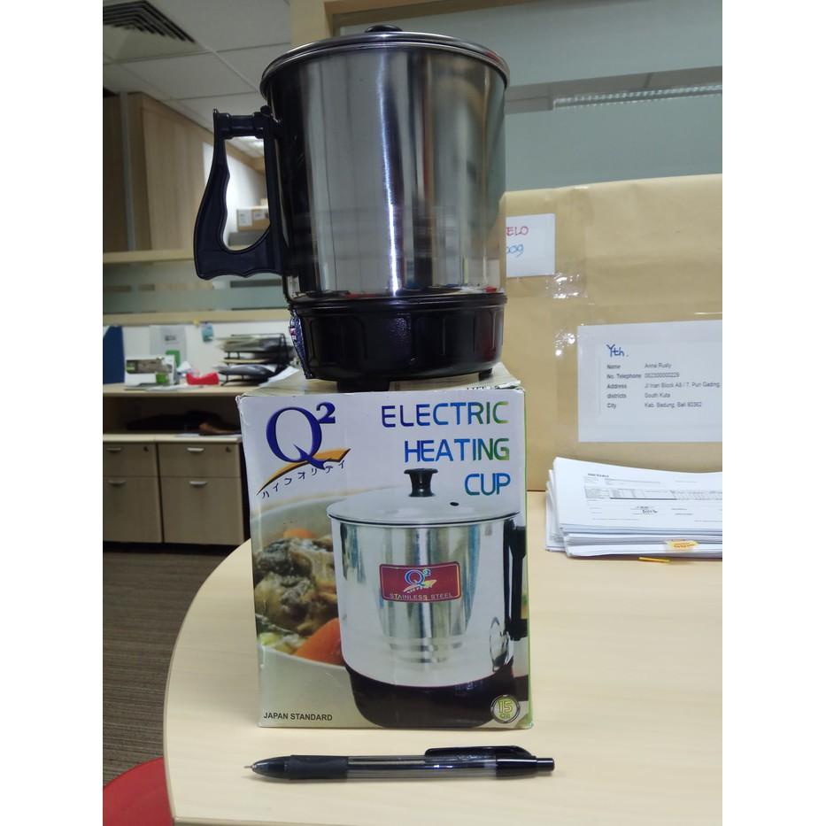 Teko Listrik Aluminium Stainless Q2 15cm Mug Pemanas Air Shopee Electric Heating Cup 11cm Indonesia