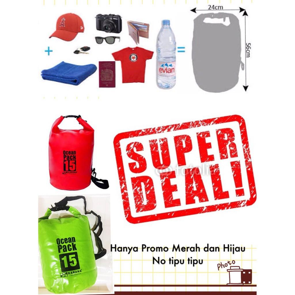Dry drybag water proof bag waterproof bag tas anti air 15l 15 l liter dan 10 20 30 25 liter | Shopee Indonesia