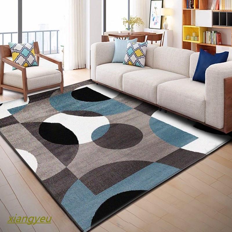Nordic Gaya Minimalis Karpet Ruang Tamu Yang Modern Geometris Meja Sofa Kopi Bantal Tidur Samping Te | Shopee Indonesia