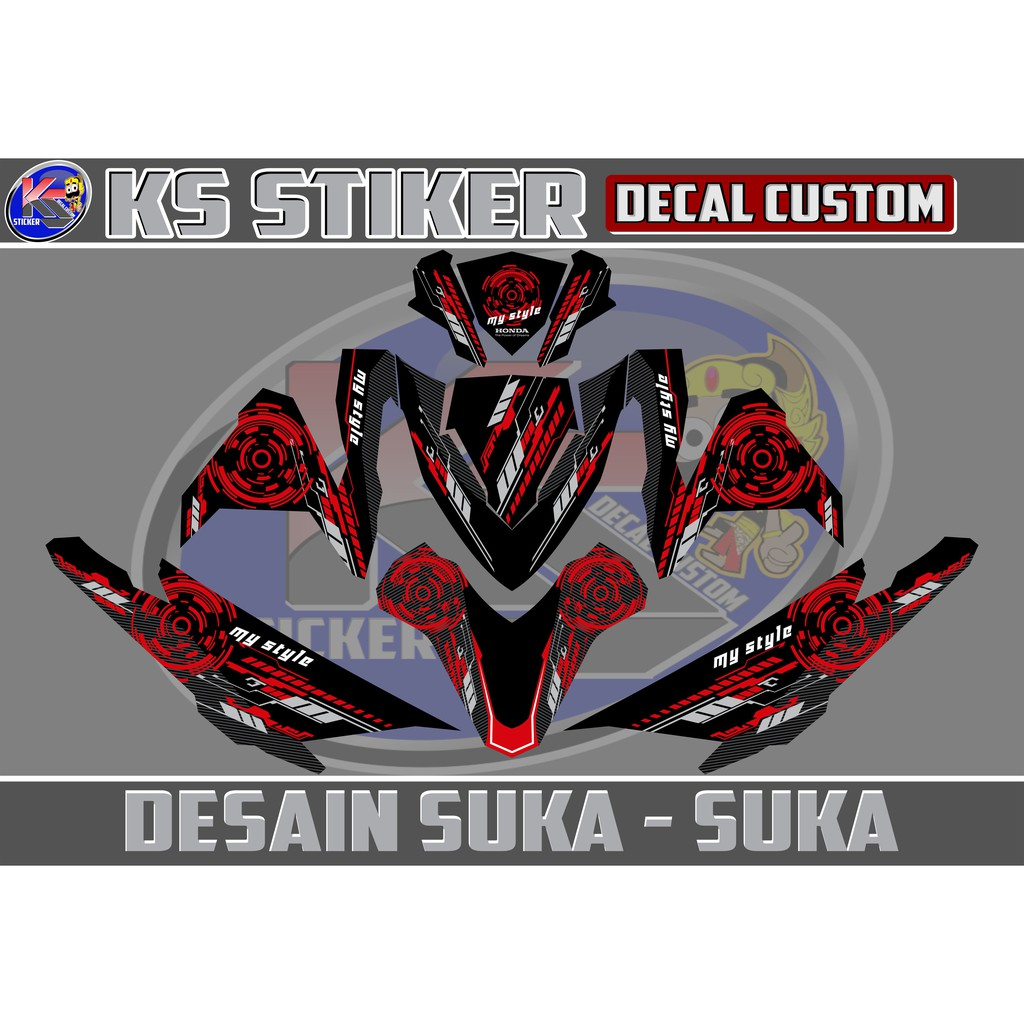 Stiker decal all new beat esp beat street hitam 01 shopee indonesia