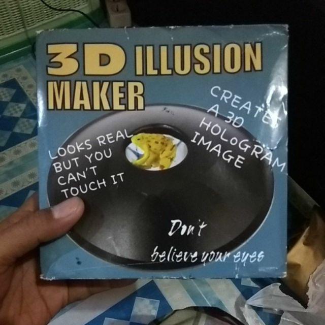 3d Mirascope Toy Optical Hologram Magic Box Visual Illusion Image