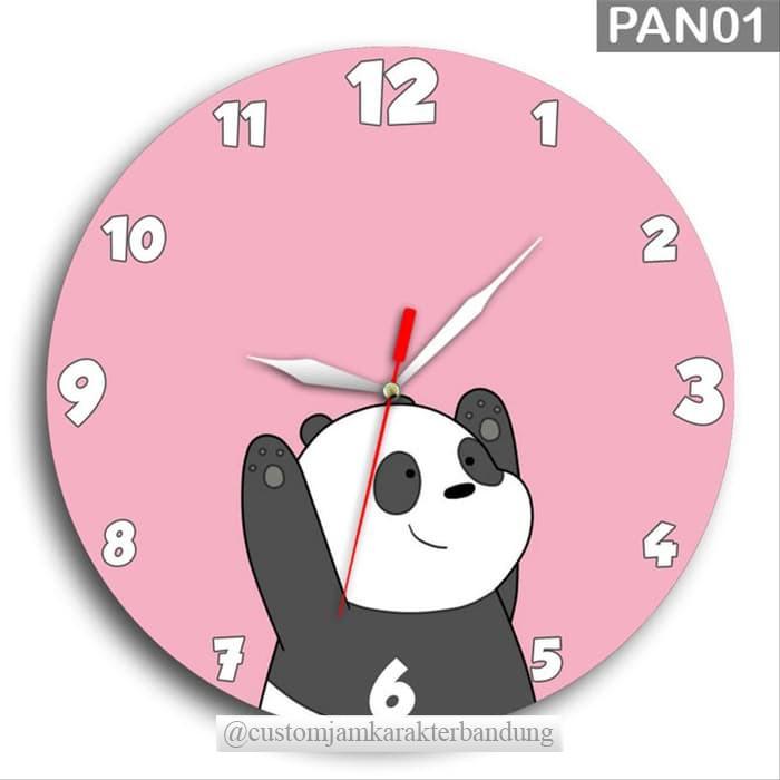 Jam Dinding Panda Lucu Imut Pink Kayu Unik Pan01 Free Baterai Jam Panda Pink Kartun Custom Jam Shopee Indonesia