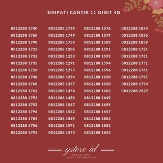 NOMOR CANTIK 11 DIGIT SIMPATI KARTU PERDANA TELKOMSEL 4G NOMER SERI 0812288