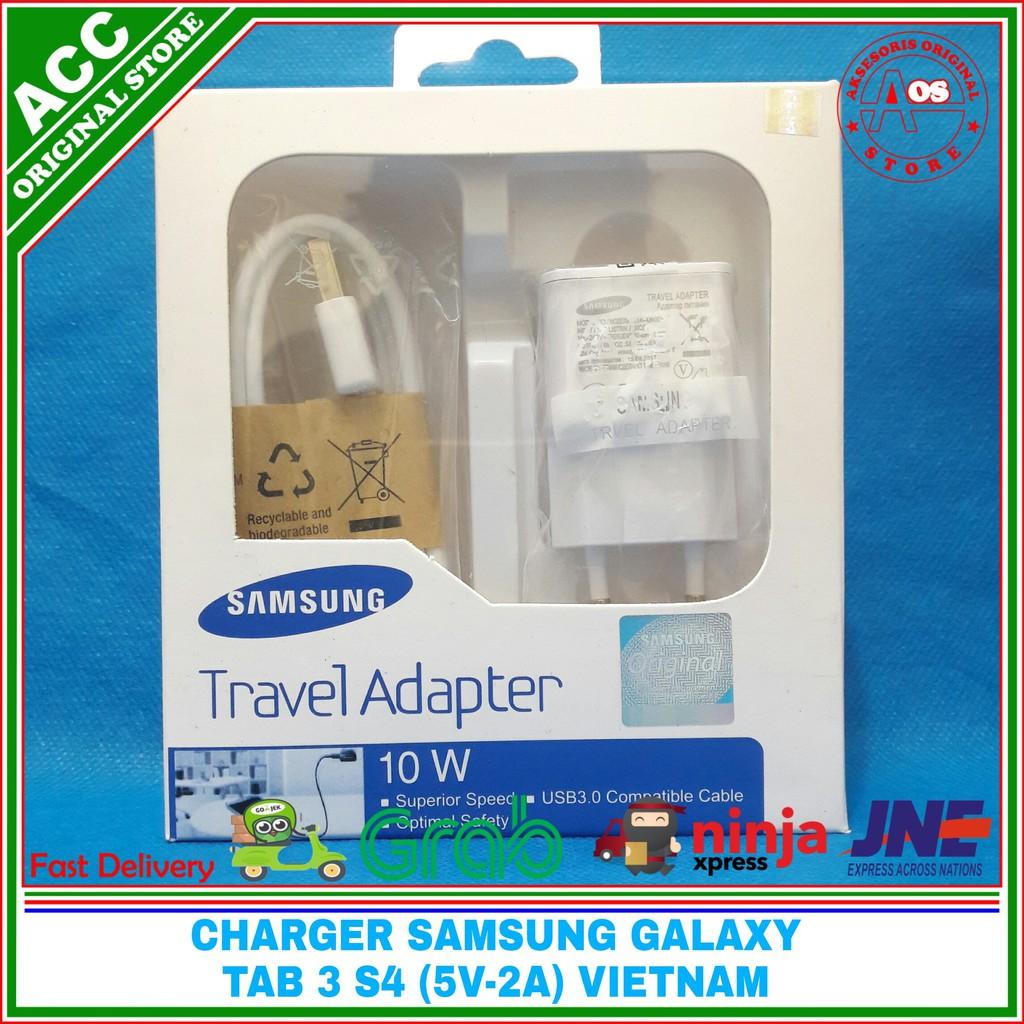 Charger Samsung Galaxy Tab A Tab S2 Tab 3 ORIGINAL VIETNAM 2A | Shopee Indonesia