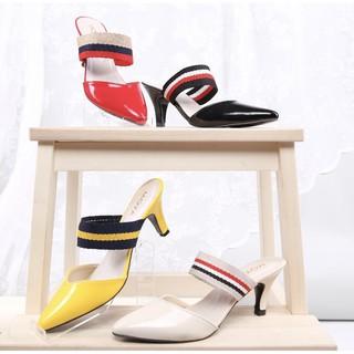 BnG Corner - Pump High Heels Wanita ML01 - Kuning / Hitam / Cream / Merah
