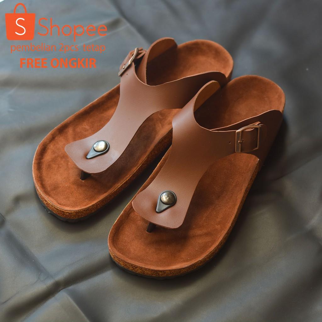Ardiles Men Ramza Sendal Gunung Hitam Coklat Tan Shopee Indonesia Cooldots Sandal Biru 39