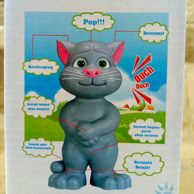 Talking Singing Cat Bahasa Indonesia Boneka Kucing Tom Bicara Menirukan Suara Mata Nyala Tomcat Shopee Indonesia