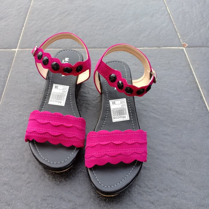 UPDATE SANDAL WEDGES PD02 FANTA - FUCHSIA, 37 PALING MURAH | Shopee Indonesia