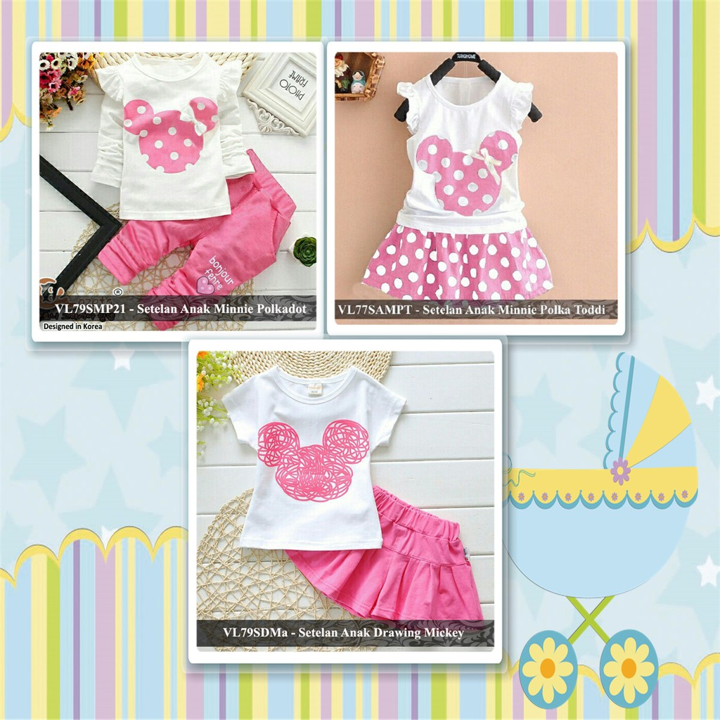 dress anak perempuan gaun pesta kids party mickey hello kitty baju fashion  anak prempuan  585d758aa8