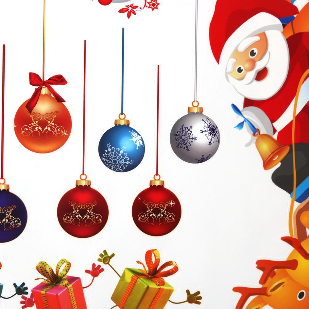 Stiker Dinding Desain Santa Claus Untuk Dekorasi Natal