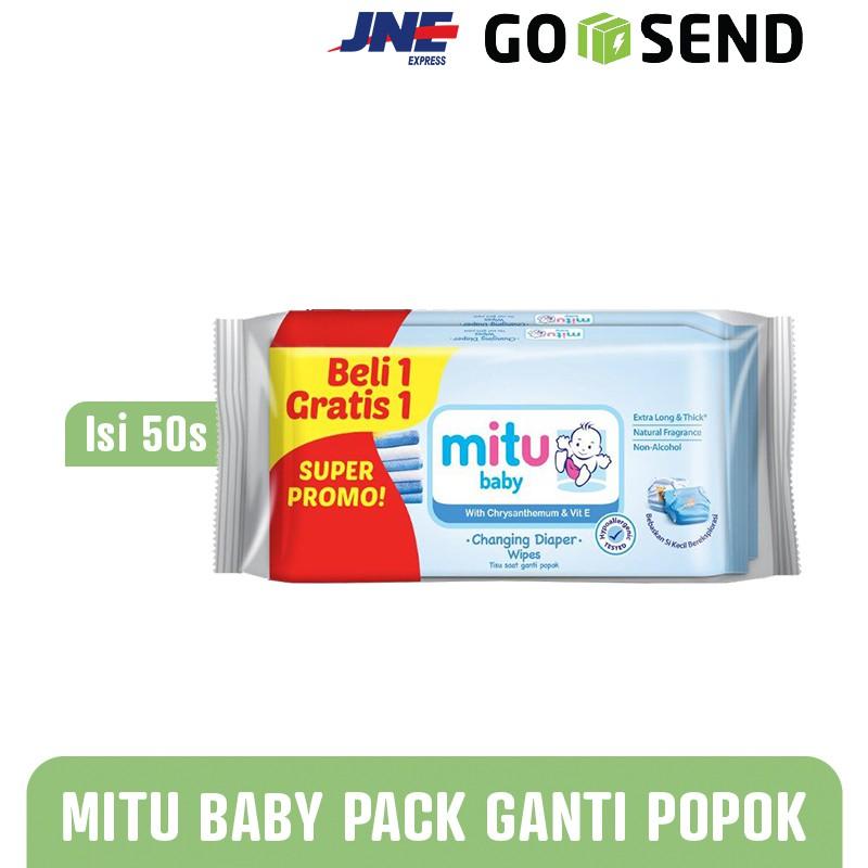 MITU Beli 1 Gratis 1 Tisu Basah Bayi 50s - Baby Wipes Biru | Shopee Indonesia