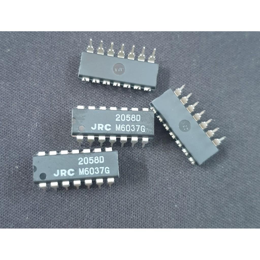 IC JRC2058D JRC 2058 D Quad Operational Amplifier DIP-14
