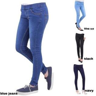 Fwr Celana Jeans Pinggang Karet Legging Jeans Celana Jeans Karet Wanita Celana Legging Shopee Indonesia