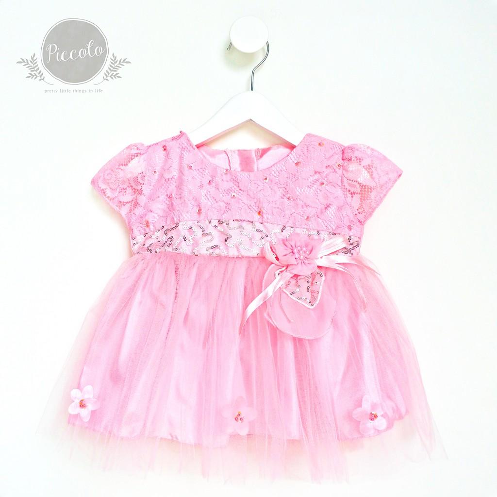 RV789P Baby Dress Tutu Baju Pesta Bayi Anak Perempuan Dress Anak Bayi Gaun Pesta Putih Akikah Aqiqah   Shopee Indonesia