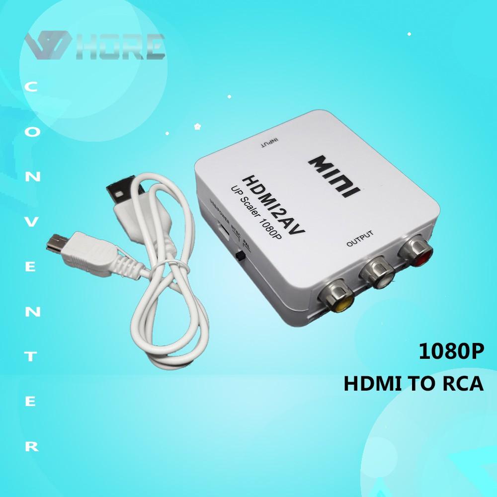 Cod Converter Hdmi To Rca Sambungan Hdmi Ke Av Rca Box Jack Audio Vidio Adapter Shopee Indonesia
