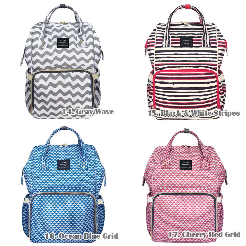 693efa20219fd5 [WARNA TERBARU] Diaper Bag Land / Backpack Wanita / Tas bayi [BS1101] |  Shopee Indonesia