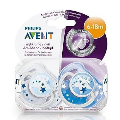 Philips Avent Glow in the Dark Night Time Soother 0-6 Months